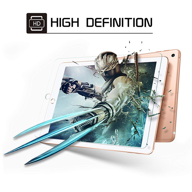 Tempered Glass For iPad 2017 2018 9.7 Screen Protector For iPad Air 1 2 mini 3 4 5 Protective Film For iPad Pro 11 2020 10.5 9.7 4