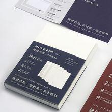 Féléves Undated terv könyv A5 A6 120 lapok DIY napi tervező illeszkedik a standard Hobonichi Journal Cover Iskola Office Supply
