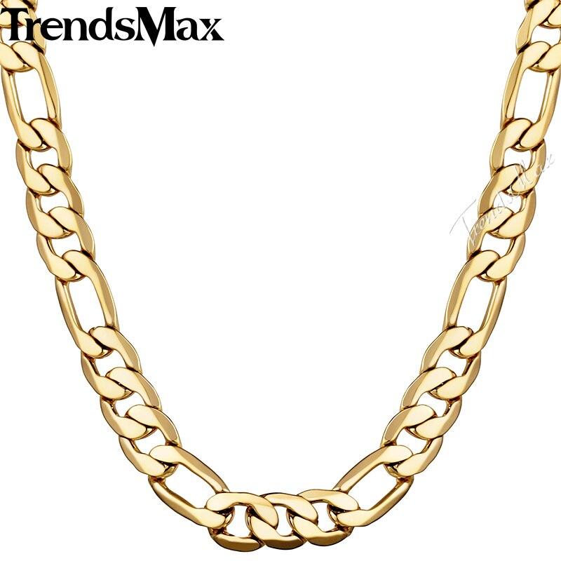 Trendsmax 5/6/9/10mm 45cm 50cm Gold Necklace For Men s