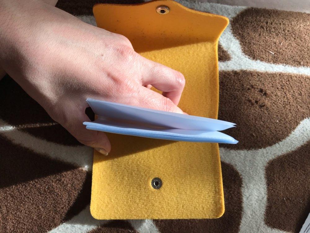 Dames 24-kaarthouder Snoepkleur Mini-portemonnee Zakelijk reisgesp Cash-portemonnee photo review