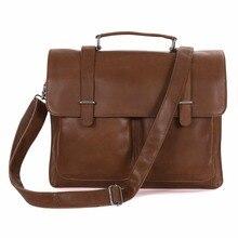 Men Briefcase Handbags Genuine Leather 2018 Man Business Travel Large 15