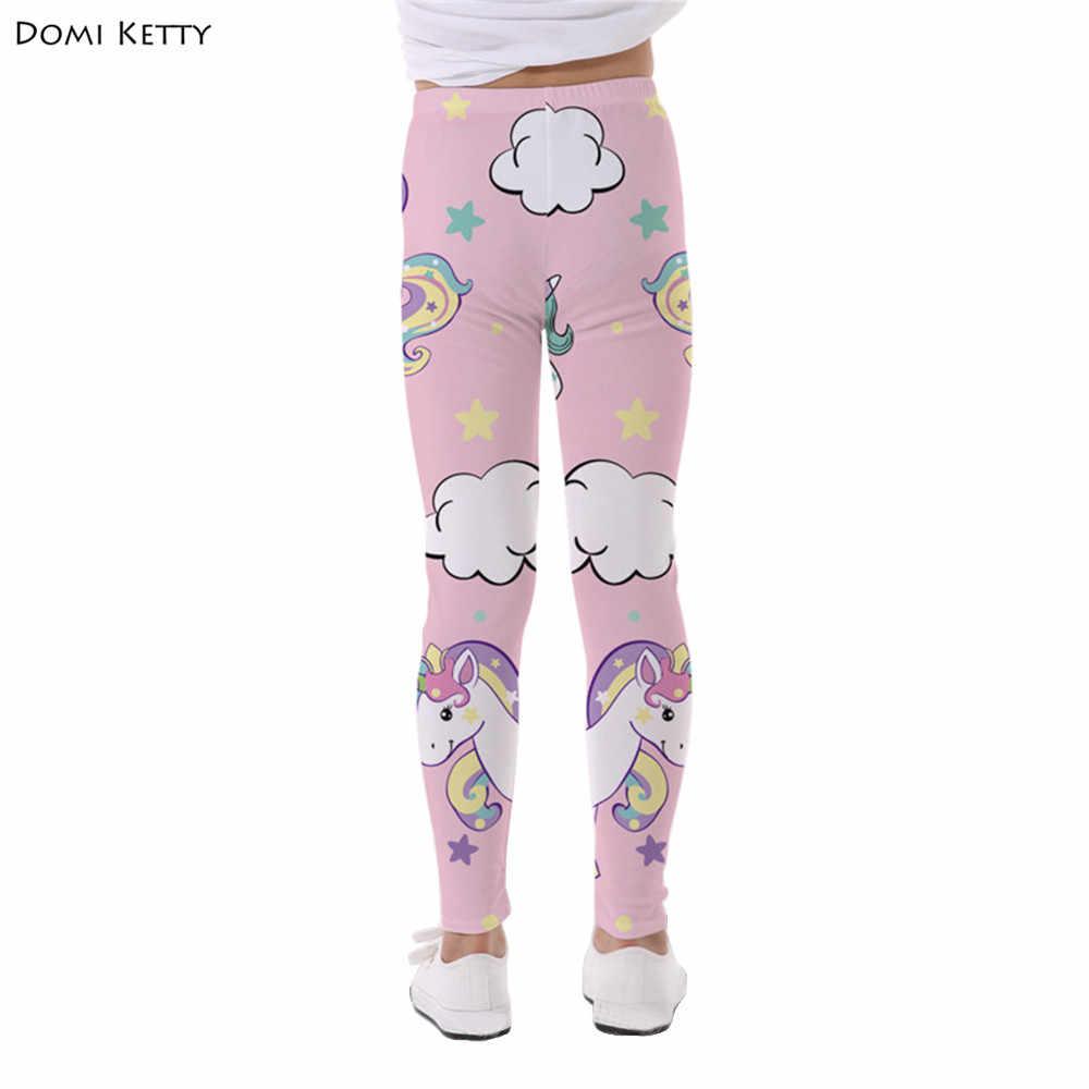 20d8e4dd49f4a ... Domi Ketty girls unicorn leggings printed cloud star children pink pants  baby kids casual fitness high ...