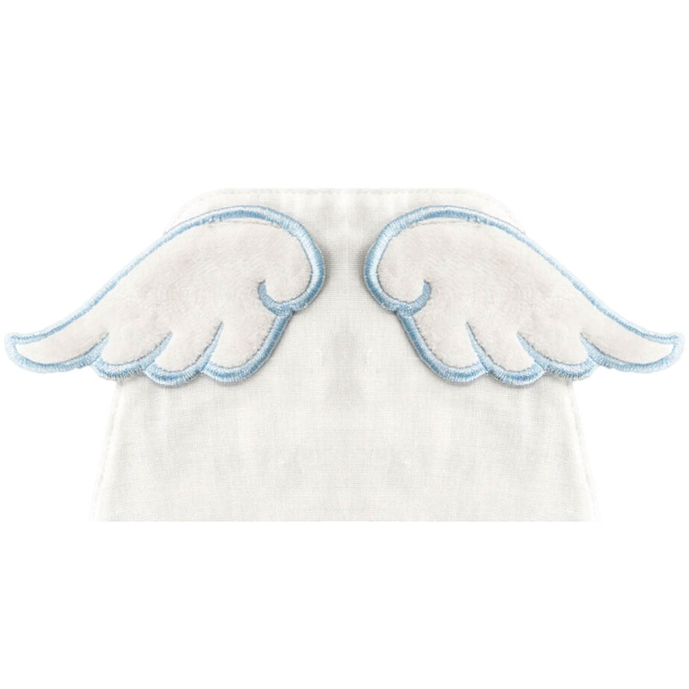 Baby Sweat Towel Infant Soft Back Dry Wipe Cloth Angel Wings Baby Back Gauze Absorb Towel 100% Cotton Double Layers