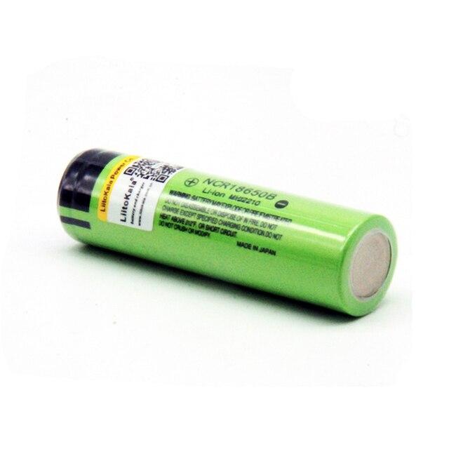 Hot liitokala 100% New Original NCR18650B 3.7 v 3400 mah 18650 Lithium Rechargeable Battery For Flashlight batteries (NO PCB) 1