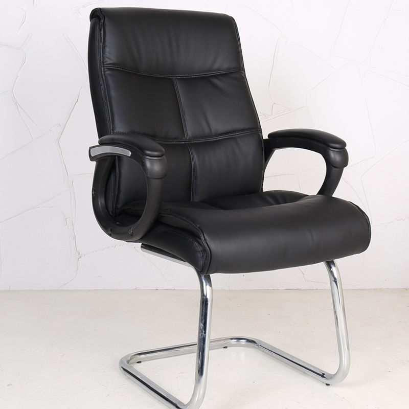US $167.7 57% OFF|modern simple Bow shaped legs computer chair leather  office chairs household seat staff armchairs-in Office Chairs from  Furniture on ...