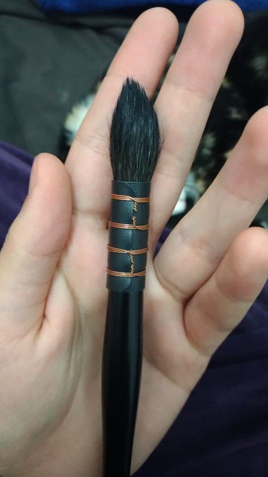 Handmade Natural Hair Watercolor Brush-1Pcs photo review