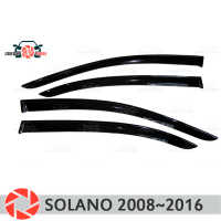 Window deflector for Lifan Solano 2008~2016 rain deflector dirt protection car styling decoration accessories molding