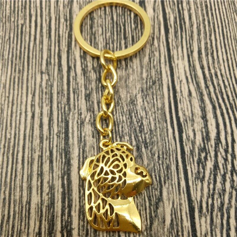 American Staffordshire Terrier Key Chains Fashion Pet Dog Jewellery Staffordshire Terrier Car Keychain Bag Keyring For Women Men