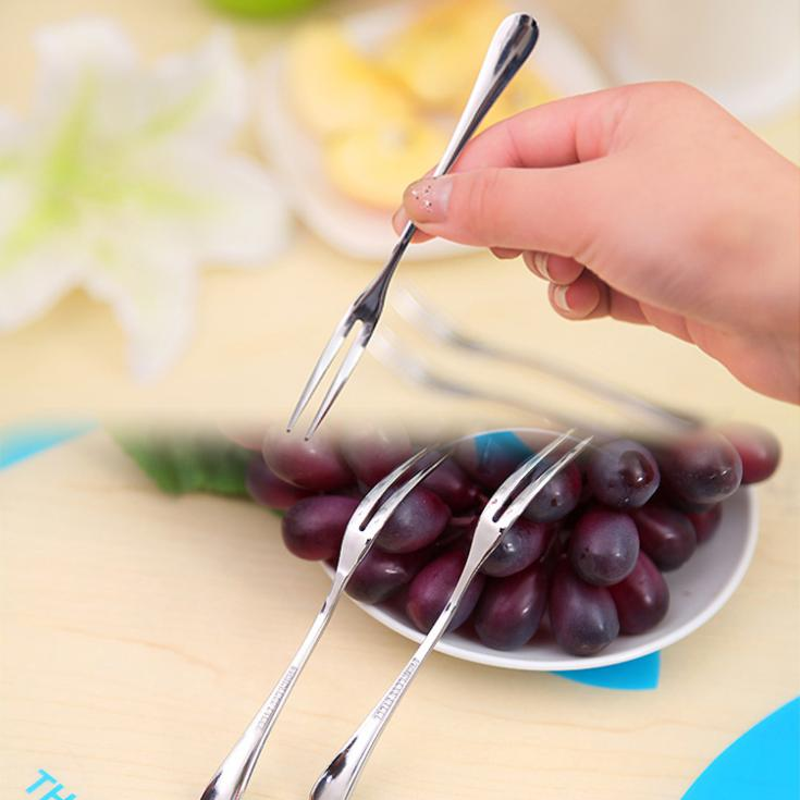 1 Stücke Edelstahl Besteck Obst Gabel Vorspeise Snack Dessert Gabel Küche Für Partei Obst Pick Gadget Tools Geschirr Professionelles Design