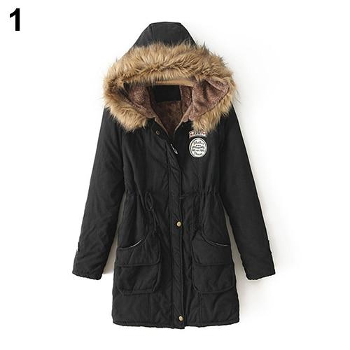 font b Women b font Winter Warm Long Sleeve Faux Fur Hooded Slim font b
