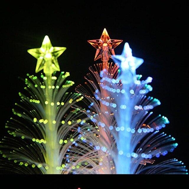 Nieuwe Kerstboom Licht Mini Kleur Veranderende LED Optic Verlichting ...