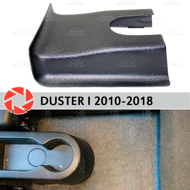 Túnel Capa traseira para Renault Duster 2010-2018 sob os pés acessórios guarnição proteção tapete car styling decoração
