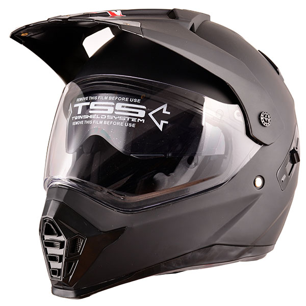 DOT-matt-black-casco-de-moto-Adventure