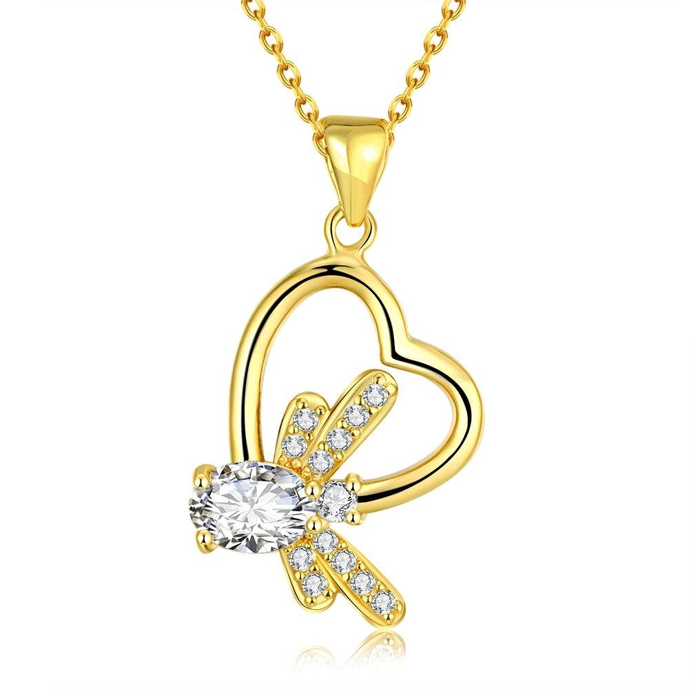 Дизайн с сердечком с Золотая рыбка объединить покрытие золото прекрасно Craft тонкая цепочка очень популярны кулон Цепочки и ожерелья