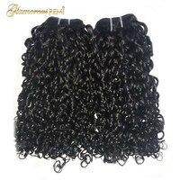 Flexi Rod Curls Double Drawn Human Hair Weft Funmi Hair Bundles 1 3 4 PCS Afro Kinky Curly Hair Weave Pixie Curl Nigeria