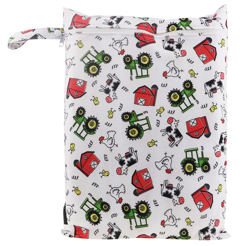 30*40cm PUL Printed Single Pocket Diaper Bag Waterproof Wet Bag Baby Nappy Bags Pail Liner Laundry Bag For Baby Cloth Diaper