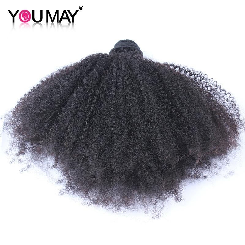 Afro Crespo Cabelo Encaracolado Pacotes Tecer Cabelo Brasileiro 100% Cabelo Humano Remy Extensão Do Cabelo Que Você Pode