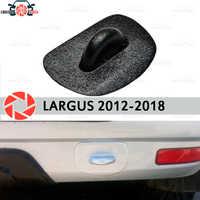 Olhal de reboque plug para Lada Largus 2012-2018 plástico ABS acessórios de proteção decoração traseira amortecedor do carro styling