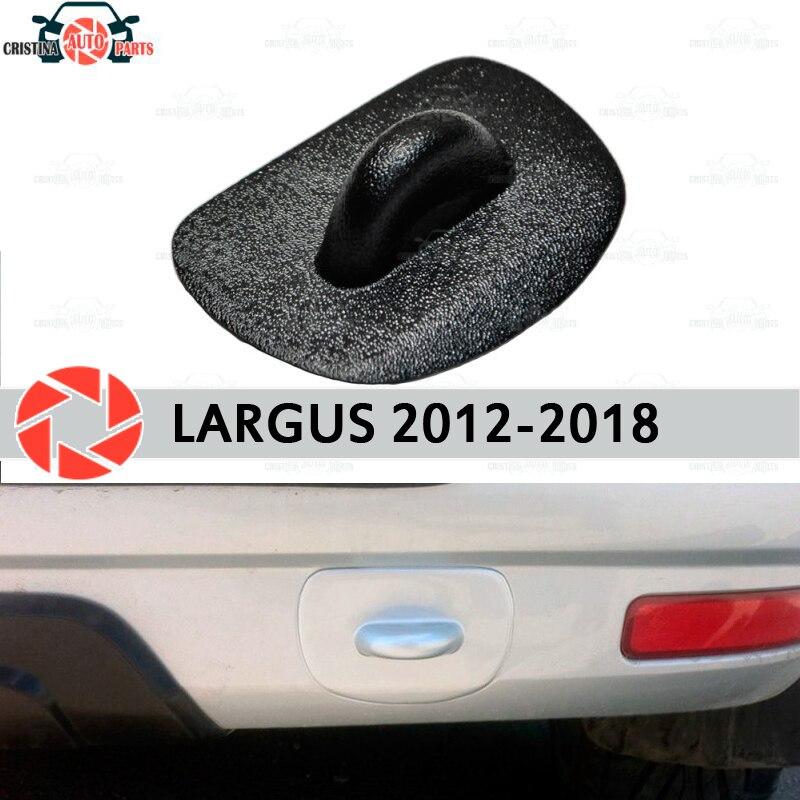 Tapón de ojo de remolque para Lada Largus 2012-2018 decoración de protección de accesorios de plástico ABS estilo de parachoques trasero de coche
