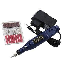 Conjunto 1 6 Furadeira bits Máquina de Manicure Profissional Elétrica Prego Broca Pen Forma Pedicure Arquivo Polonês Ferramenta Da Arte Do Prego cuidados Com os pés