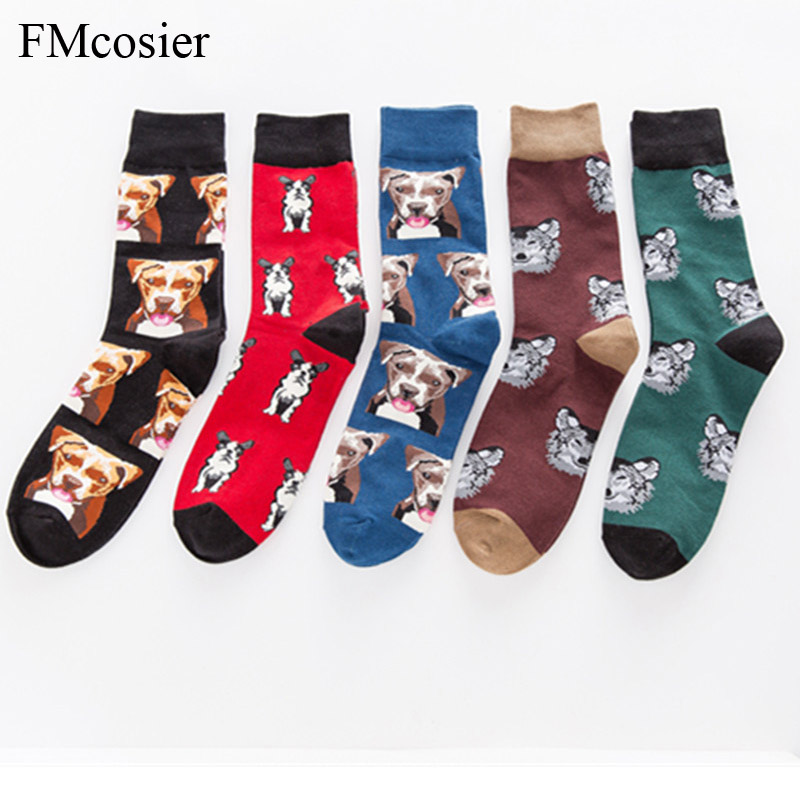 5 Pairs A Lot Happy Socks Colorful Cotton Winter Funny Dress Mens Socks Brand Art Novelty Warm Socks Socken Herren 35 Below Underwear & Sleepwears