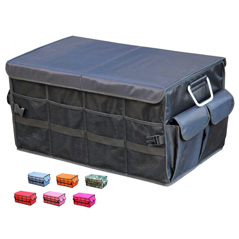 60x35x30cm Large Auto Collapsible Storage Box Car Trunk Organizer Oxford Cloth Car Back Folding Portable Storage Tools Bag