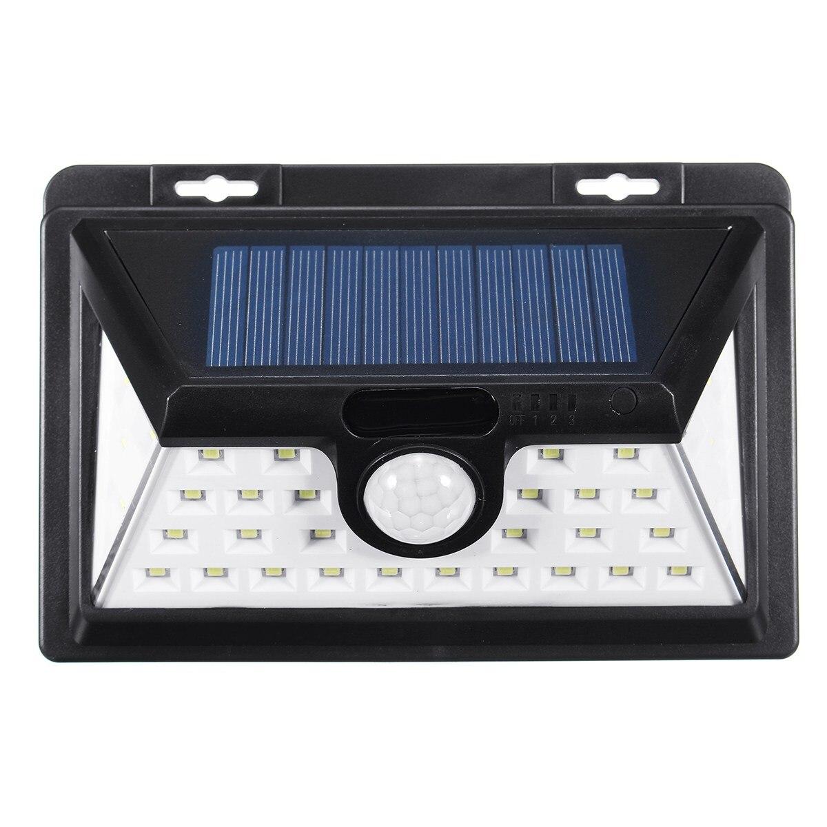 PIR Motion Sensor 34 LED Solar Power Solar Light Light Outdoor Security Wall Lamp Garden Light Waterproof