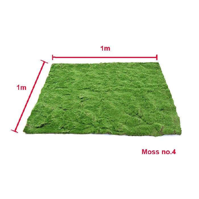 Décor de plancher de mariage 1 m * 1 m mousse artificielle touffue mousse gazon faux plante décoration murale herbe Micro paysage fleur décorative