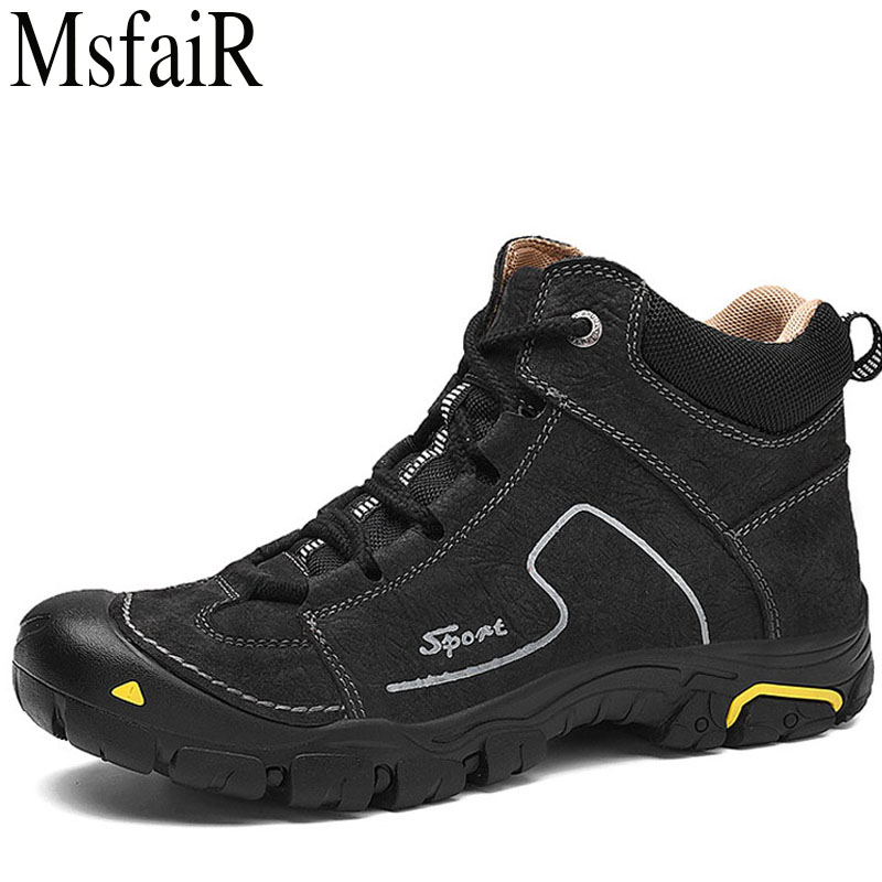 MSFAIR Outdoor Hiking Shoes For Men Mountaineering Climbing Mountain Sports Brand Hunting Trekking Breathable Mens SneakersMSFAIR Outdoor Hiking Shoes For Men Mountaineering Climbing Mountain Sports Brand Hunting Trekking Breathable Mens Sneakers