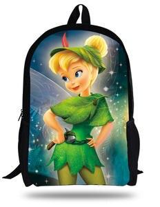 88d12e5f85d4 16-inch Mochila Escolar Teenage Girls Bags Children Backpack Tinker Bell  Fairies Print Age 7-13 Gift Kids School Bags