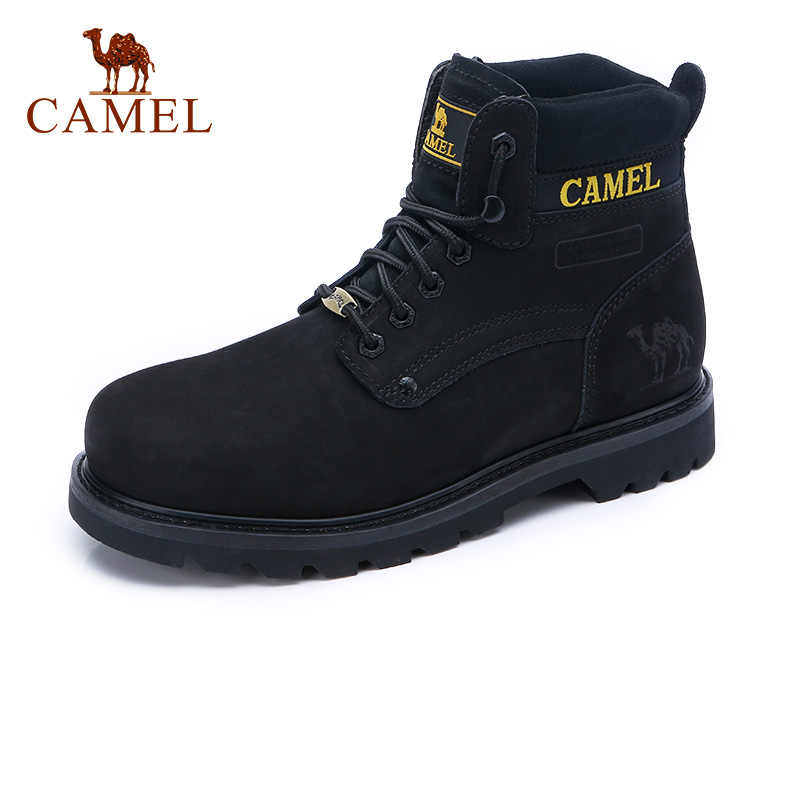 443a44cde9a Autumn New Tooling Men Boots Genuine Leather Black Trend Wild ...
