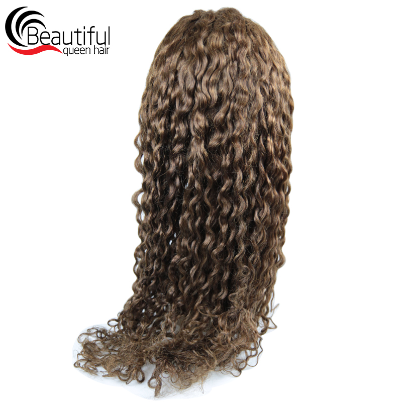 Wigs Human-Hair Full-Lace 130 Indian Brown for Women's Nabeauty Density Deep-Wave Pre-Plucked title=