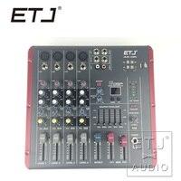 ETJ Brand AG06 (4 Mono + 2 Stereo) 16 DSP Sound Console Equipment Professional USB Audio DJ Mixer
