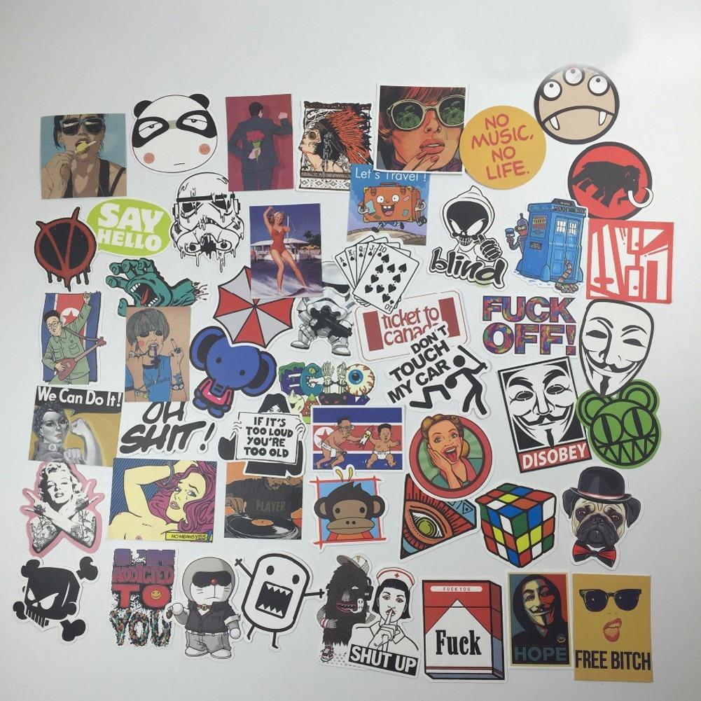 50 PCS <font><b>Horror</b></font> Nausea <font><b>Bloody</b></font> <font><b>Stickers</b></font> for Phone Skateboard Luggage Car <font><b>Styling</b></font> <font><b>Decals</b></font> Laptop JDM Doodle Decoration <font><b>Sticker</b></font>
