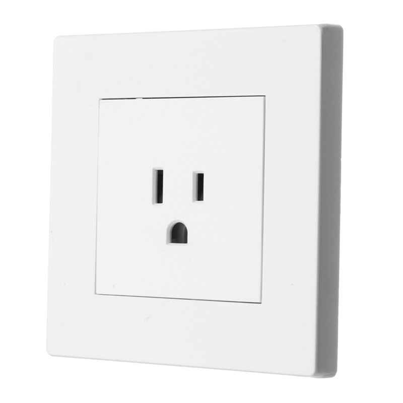 SWILET 86X86mm Nema Socket White American Socket Wall Power Outlet ...