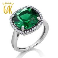 Vintage Style Women S Cushion Cut Green Nano Emerald Ring