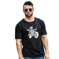 Men Cool Motorcycle Summer Casual Short Sleeve O-Neck T-Shirt Couple Top Tee Gift