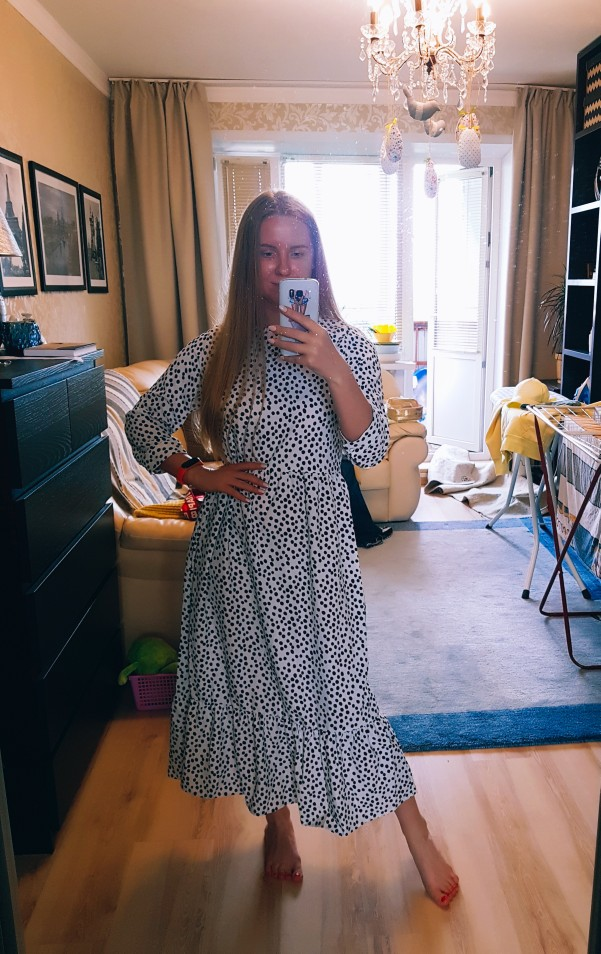 Autumn Beach Women Maxi Dress Vintage Polka Dots Ladies Elegant Long Dresses Girls High Waist Long Dress Vestidos Feminine photo review