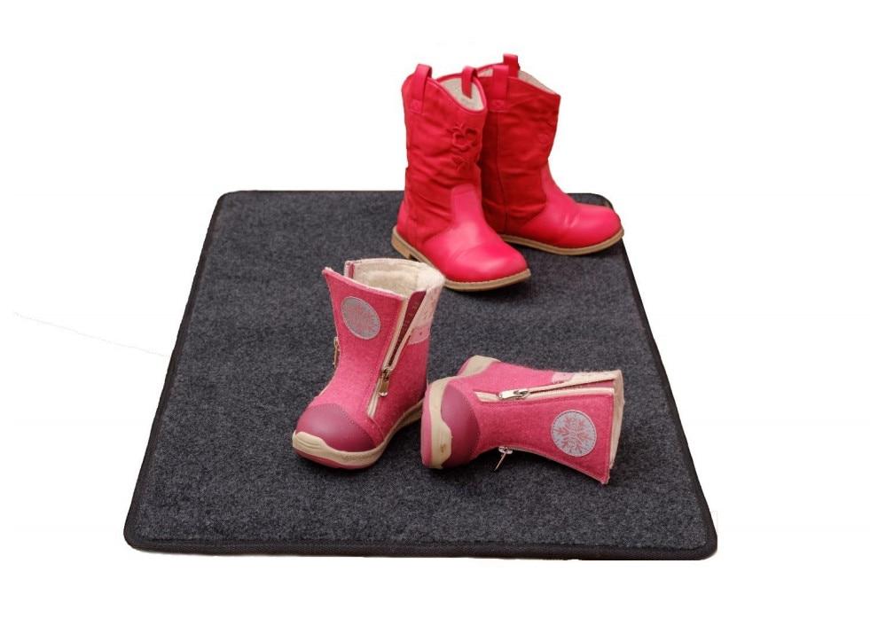 Warm carpet warm mat electric mat drying shoes hallway floor mat heated mat for drying shoes Carpet 80х50 cm cartoon panda style warm keeping flannel toilet mat cushion white