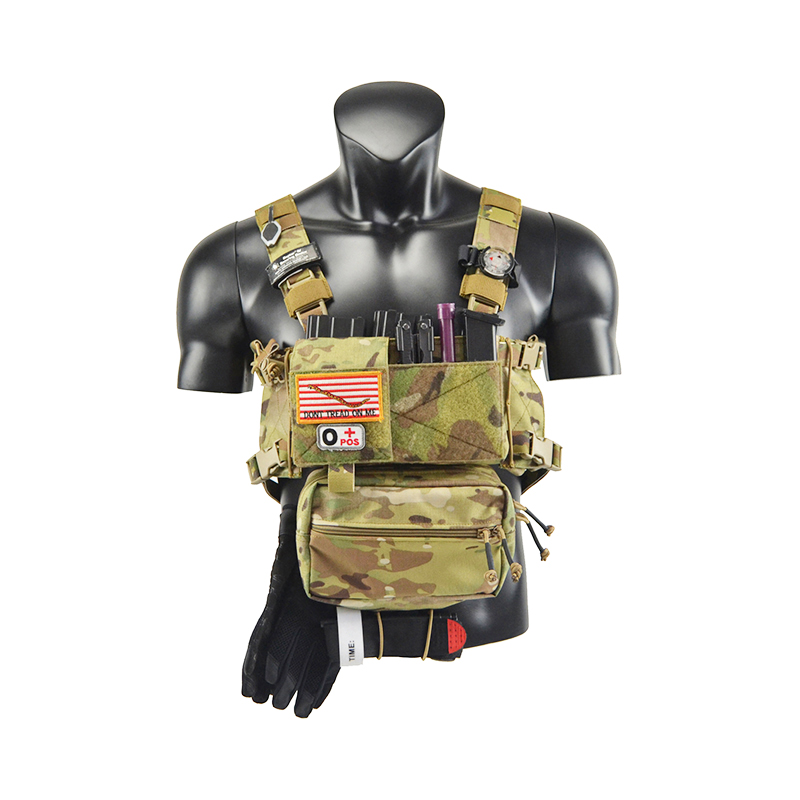 Chassis MK3 Mini Tactical Chest Rig Airsoft Hunting Vest Ranger Green Military Tactical Vest w/ Mag Pouch TW-CR02/CR03 micro chest rig