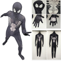 Kid black Spiderman Costume Spider Man Suit Spider man Costumes Adults Children Kids Spider Man Cosplay Clothing for party