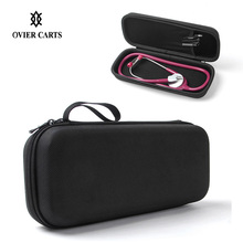 Portable Medical Stethoscope EVA Storage Bag Big Mesh Pockets For Accessories Waterproof Anti-shock Hard Case