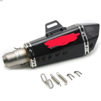 Universal 51mm Motorcycle Akrapov Carbon Fiber Modified Exhaust Pipe Tube For Ducati MONSTER 400 620 695