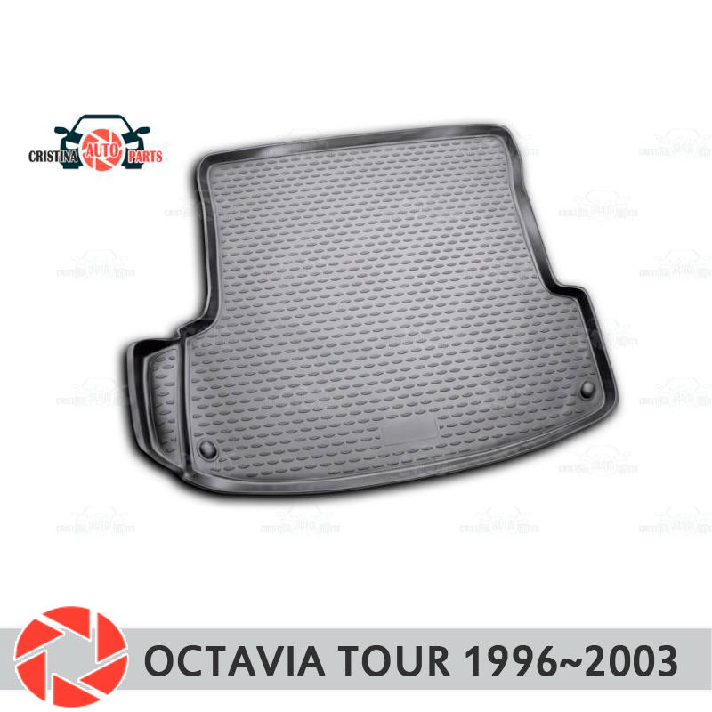Trunk mat for Skoda Octavia Tour 1996~2003 trunk floor rugs non slip polyurethane dirt protection interior trunk car styling mogwai mogwai government commissions bbc 1996 2003