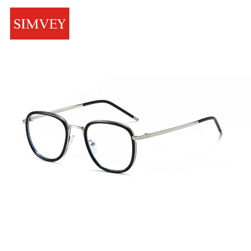 Simvey 2017 New Blue Light Blocking Computer Glasses Women Men Anti Blue Light Gaming Glasses Metal Frame High Quality