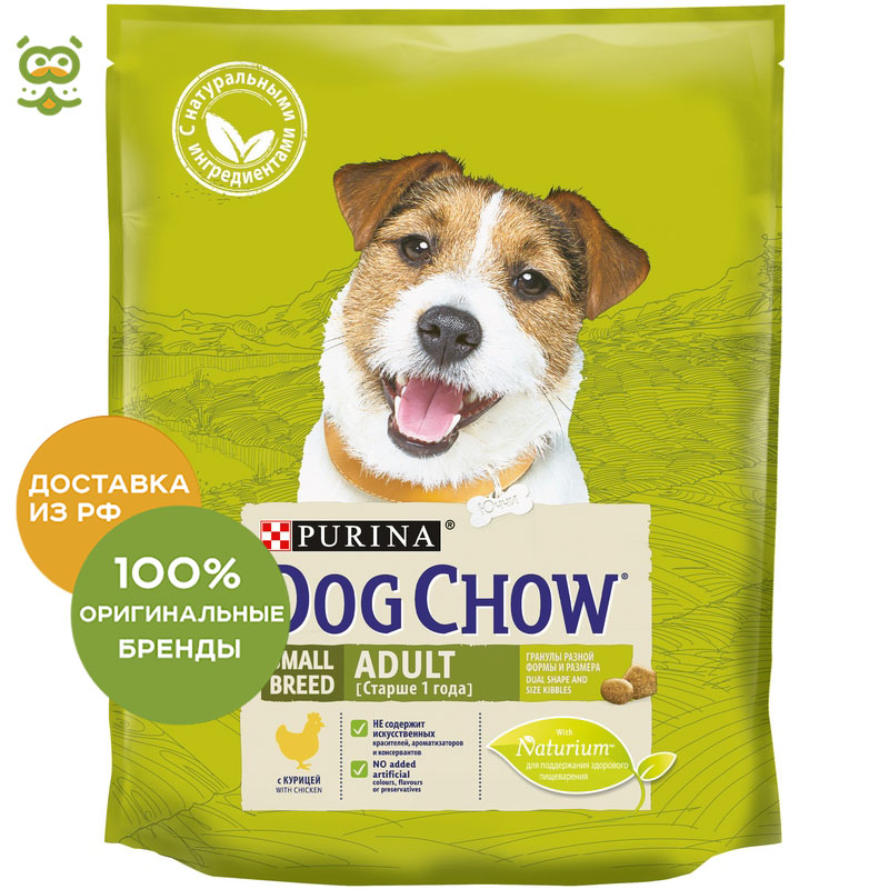 Dog food Dog Chow Small Breed Adult for adult dogs of small breeds, Chicken, 2 * 800 g dog chow dry food for adult dogs of small breeds with chicken package 800 g