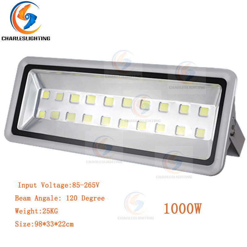 CHARLESLIGHTING 3 Years Warranty LED Floodlight 1000W High Power Lamp Waterproof IP65 AC85-265V Warm/Cold White For Outdoor