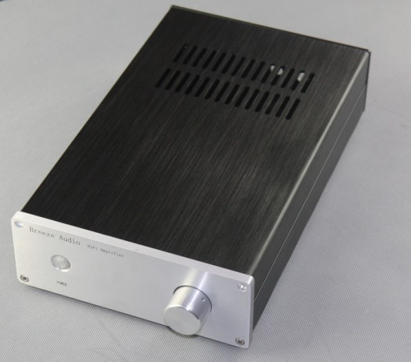 Black Aluminium Chassis DIY Audio Headphone Amplifier Enclosure Metal Case