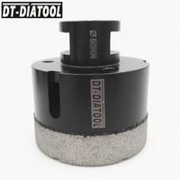 DT DIATOOL Diameter 60mm Dry Vacuum Brazed Diamond Drill Core Bits Fast Drilling Granite Marble Tile