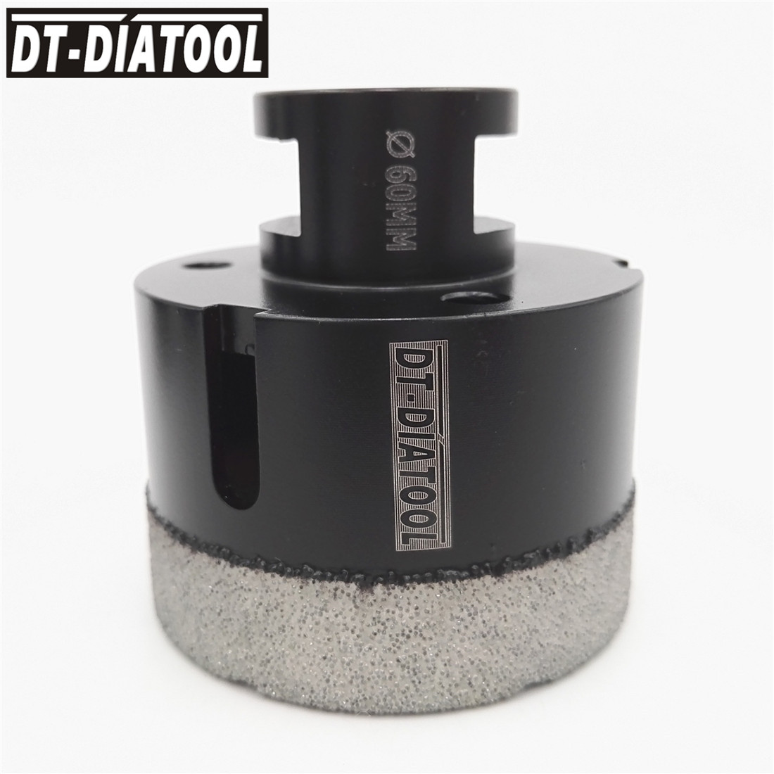 цена на DT-DIATOOL Diameter 60mm Professional Dry Vacuum Brazed Diamond Drill Core Bits for granite marble tile Hole Saw with M14 Thread